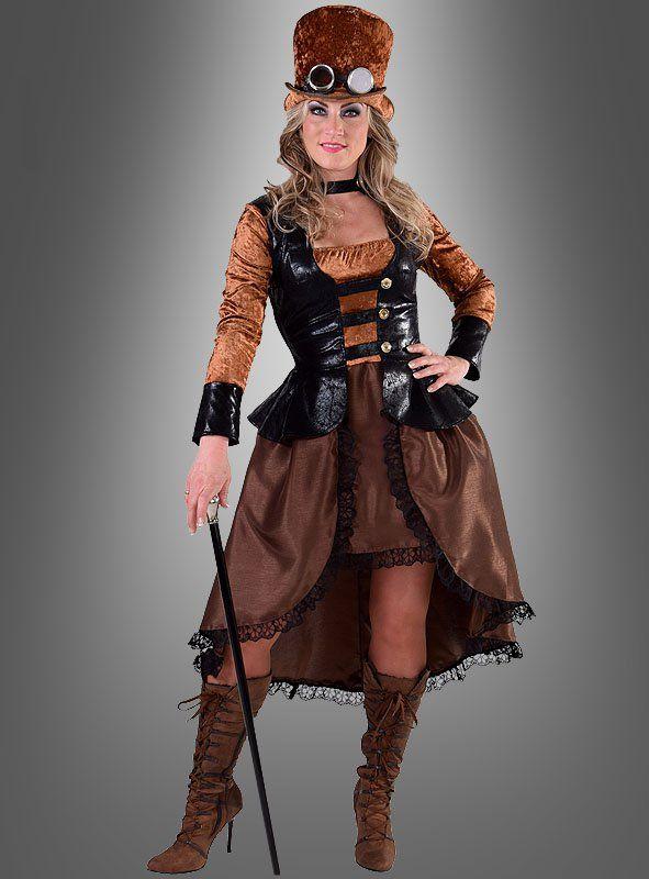 Damen Kostüm Steampunk Weste Karneval Fasching Rub