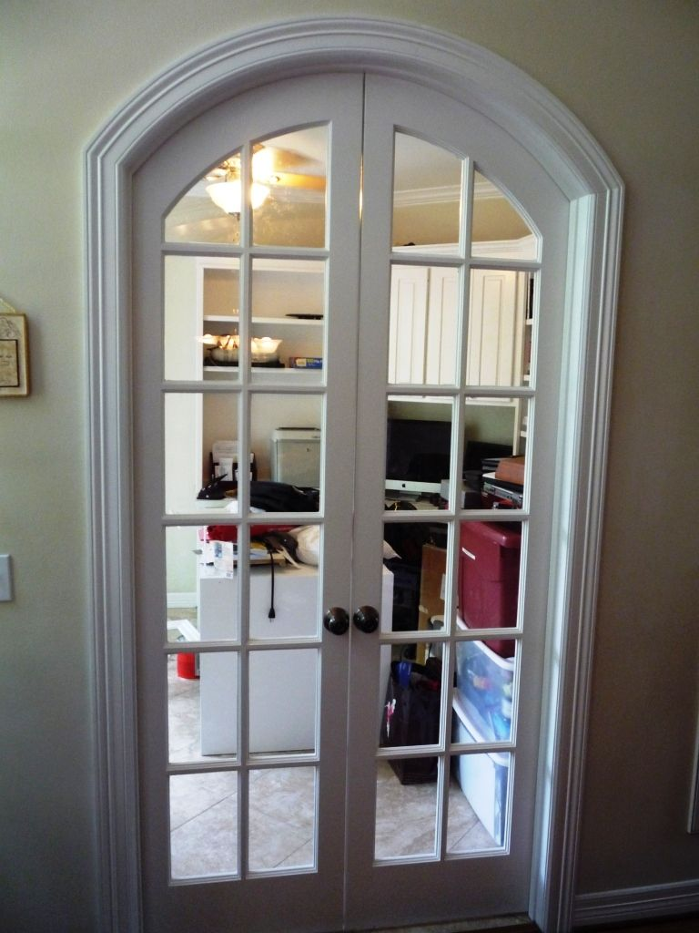 Interior french doors interior french doors - Custom Arched French Doors That We Built To Close Off Any Office Area In A House