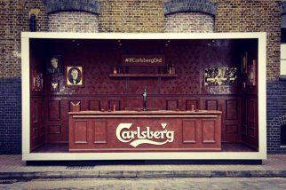 Carlsberg crea una barra de bar, totalmente de chocolate