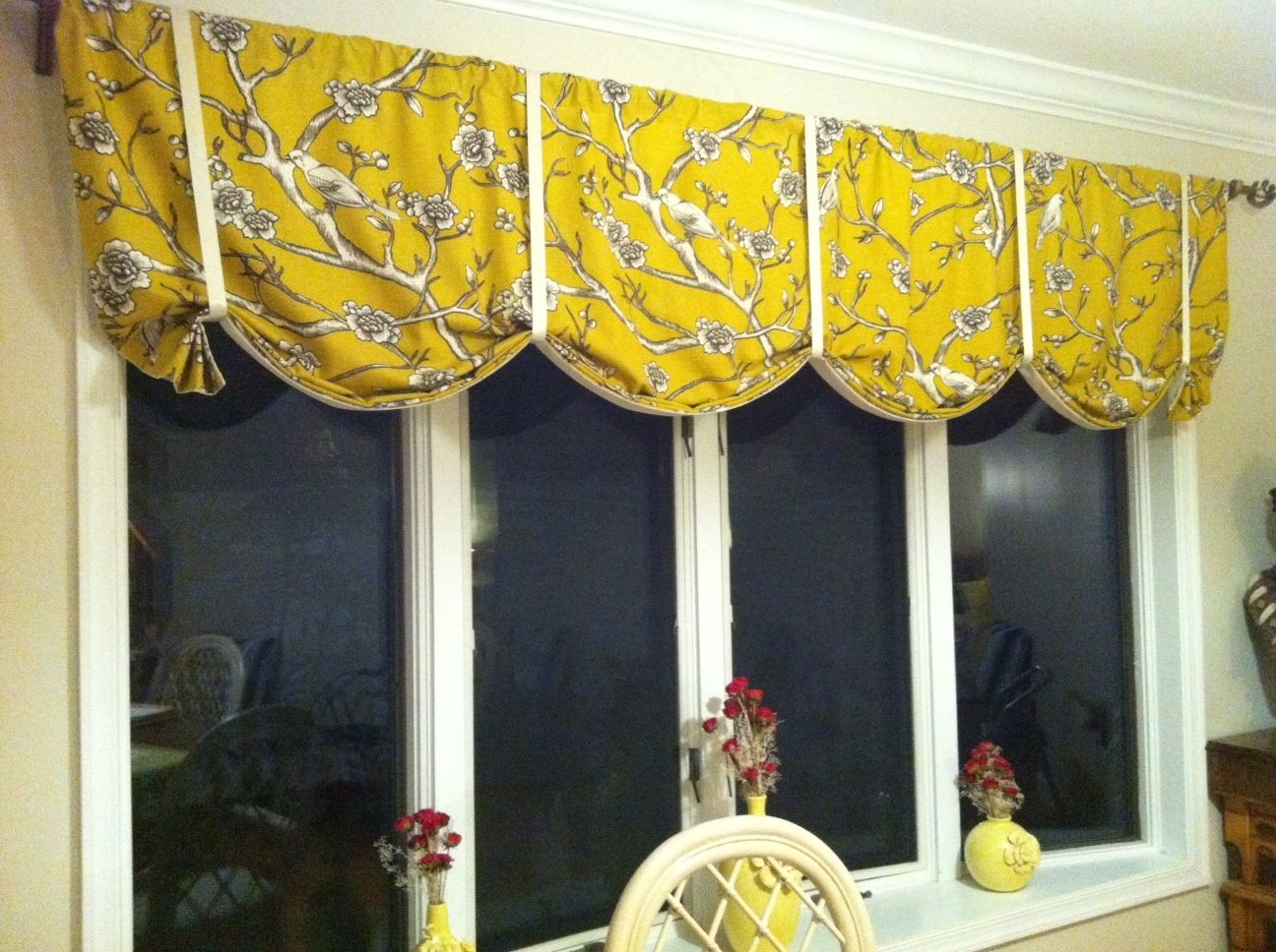 Tie Up Curtains For Dining Room Bay Window Vintage Blossom Fabric By Dwell