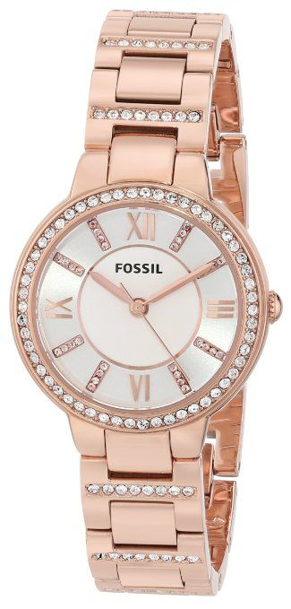 9bf947318f26 Mujer.  Fossil Women s ES3284 Virginia Analog Display Analog Quartz Rose  Gold  Watch Accesorios