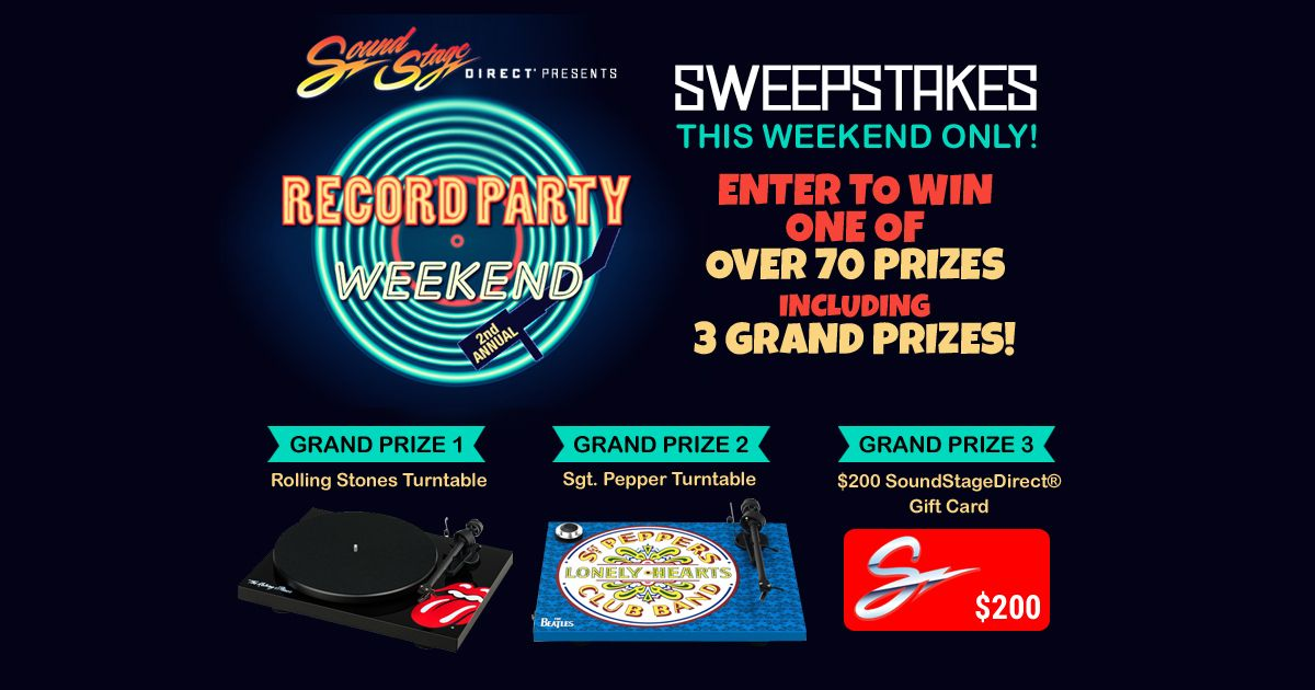 SoundStageDirect's 2nd Annual Record Party Weekend Sweepstakes