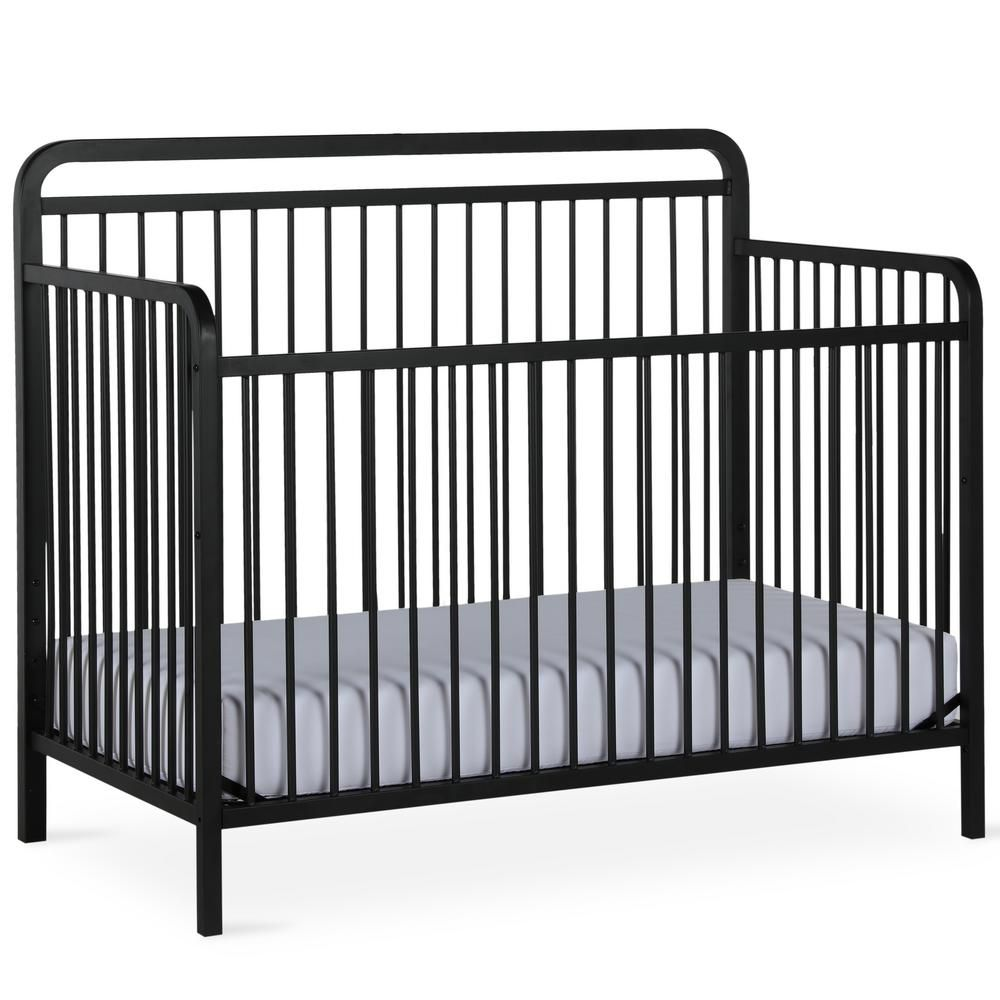 Best Baby Relax Holly Matte Black 4 In 1 Convertible Metal Crib 400 x 300