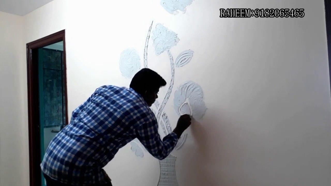 3d Wall Putty Design Mural Texture Wall Texture Design Texture Design Wall Painting Techniques
