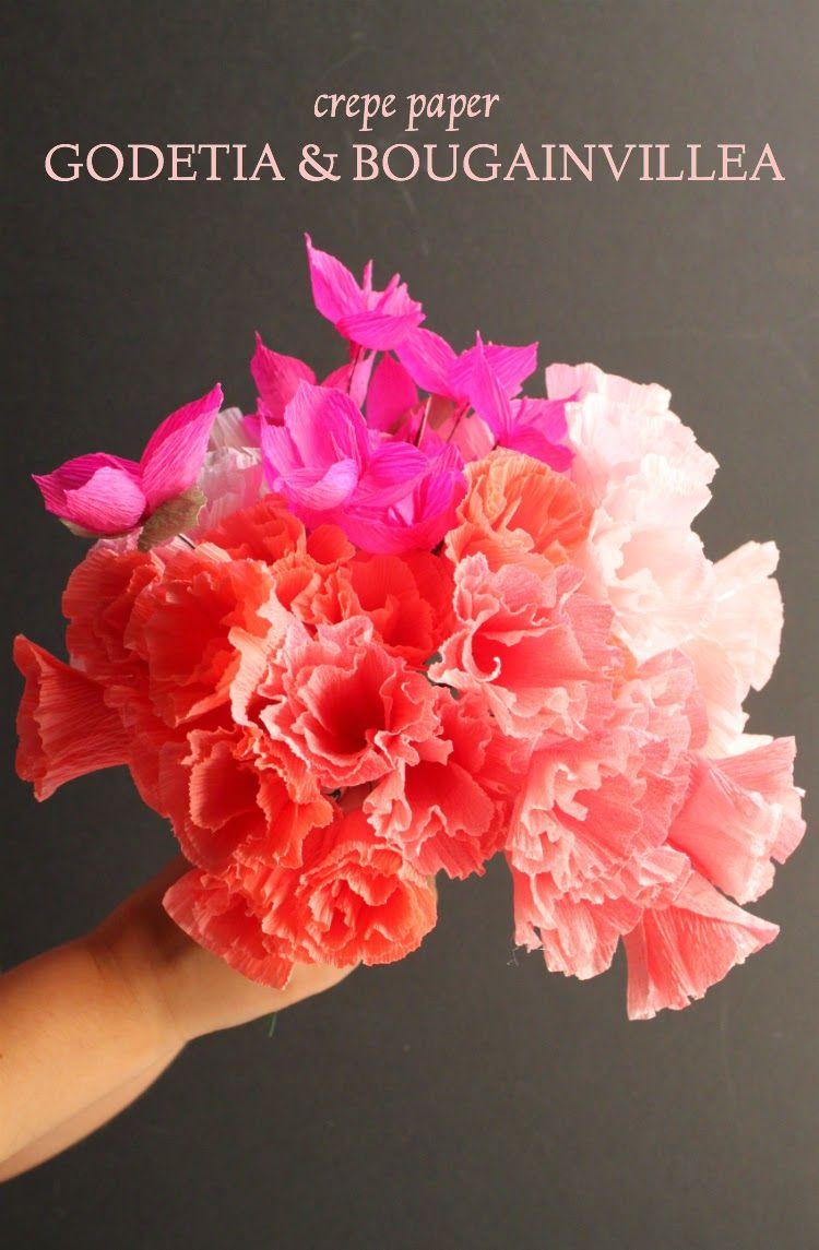Corner Blog Paper Godetia Bougainvillea Tutorial Flowers