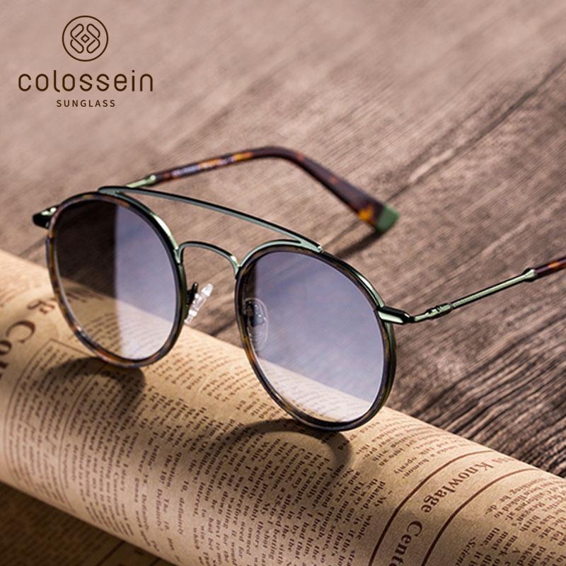 8d40b3e91dc7 COLOSSEIN Round Tortoise Retro Women Fashion Sunglasses | sunglasses ...