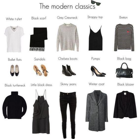 The modern classics   Fashion capsule, Fashion, Minimalist