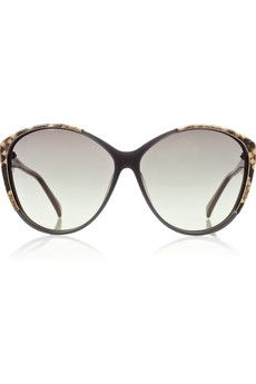 Awesome (an American word I generally never use) but, Awesome, Awesome, Awesome.  Loving Linda Farro Luxe Python-trimmed acetate sunglasses for a mere £460.00.  I promise I will never sit on them, lose them, or break them. :-)