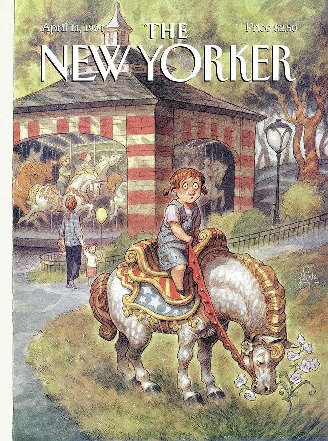 New Yorker April 11th, 1994 by Peter de Seve New yorker