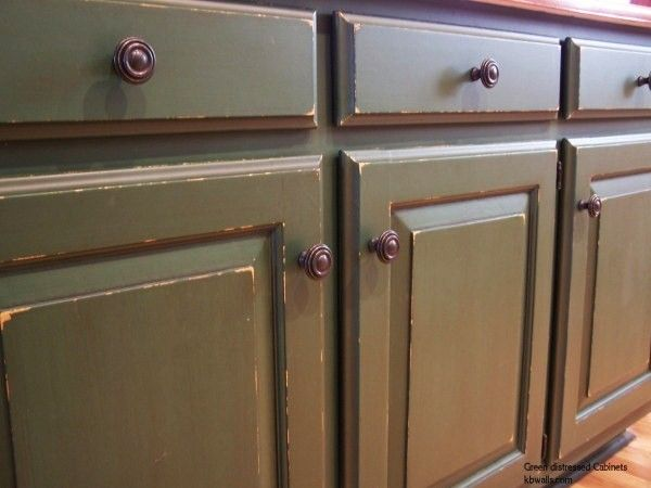 Distressed Green Kitchen Cabinets kitchen / green / glazed cabinets | faux finshed cabinetry