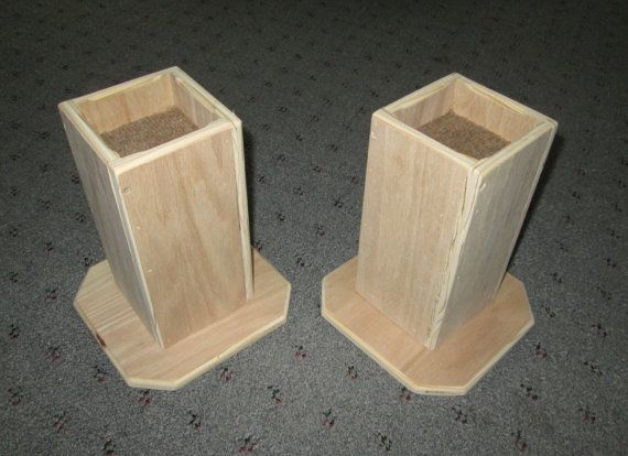 Lovely Furniture Risers, 6 Inch All Wood Construction, Unfinished Square Design   Raise  Furniture,