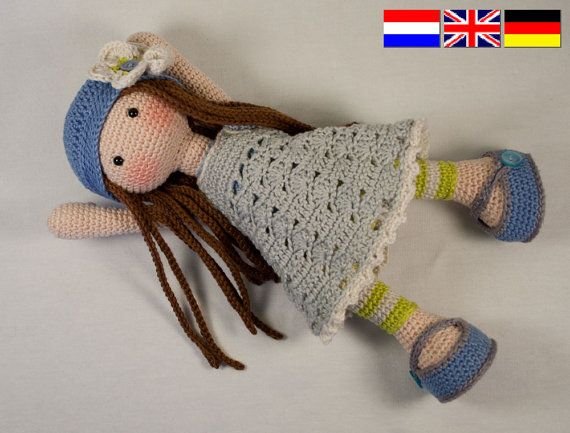 Crochet pattern for doll LILLY (Deutsch, English, Nederlands ...