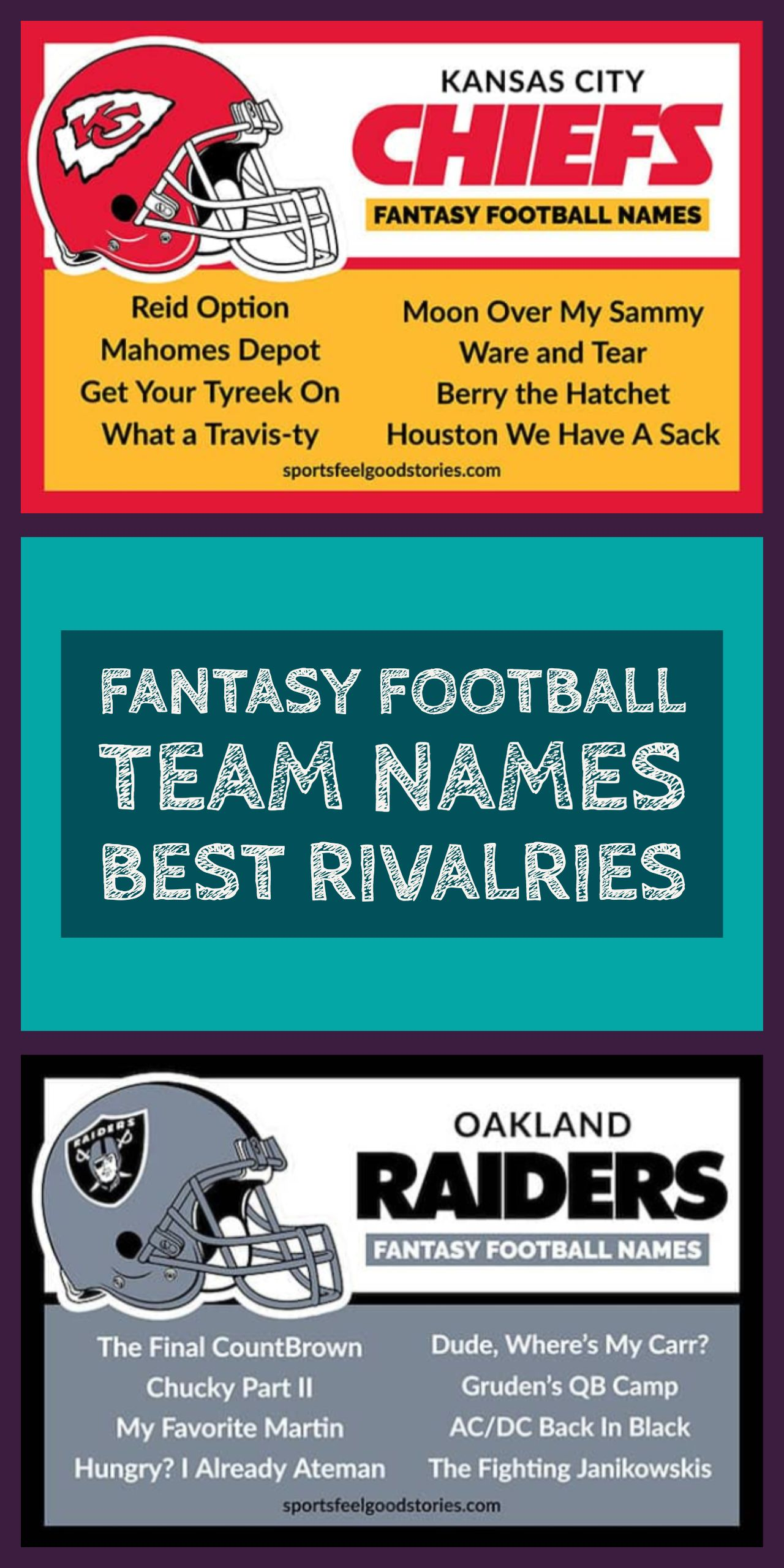 Best Fantasy Football Names Sorted By Team Sports Feel Good Stories Fantasy Football Names Football Names Football Team Names