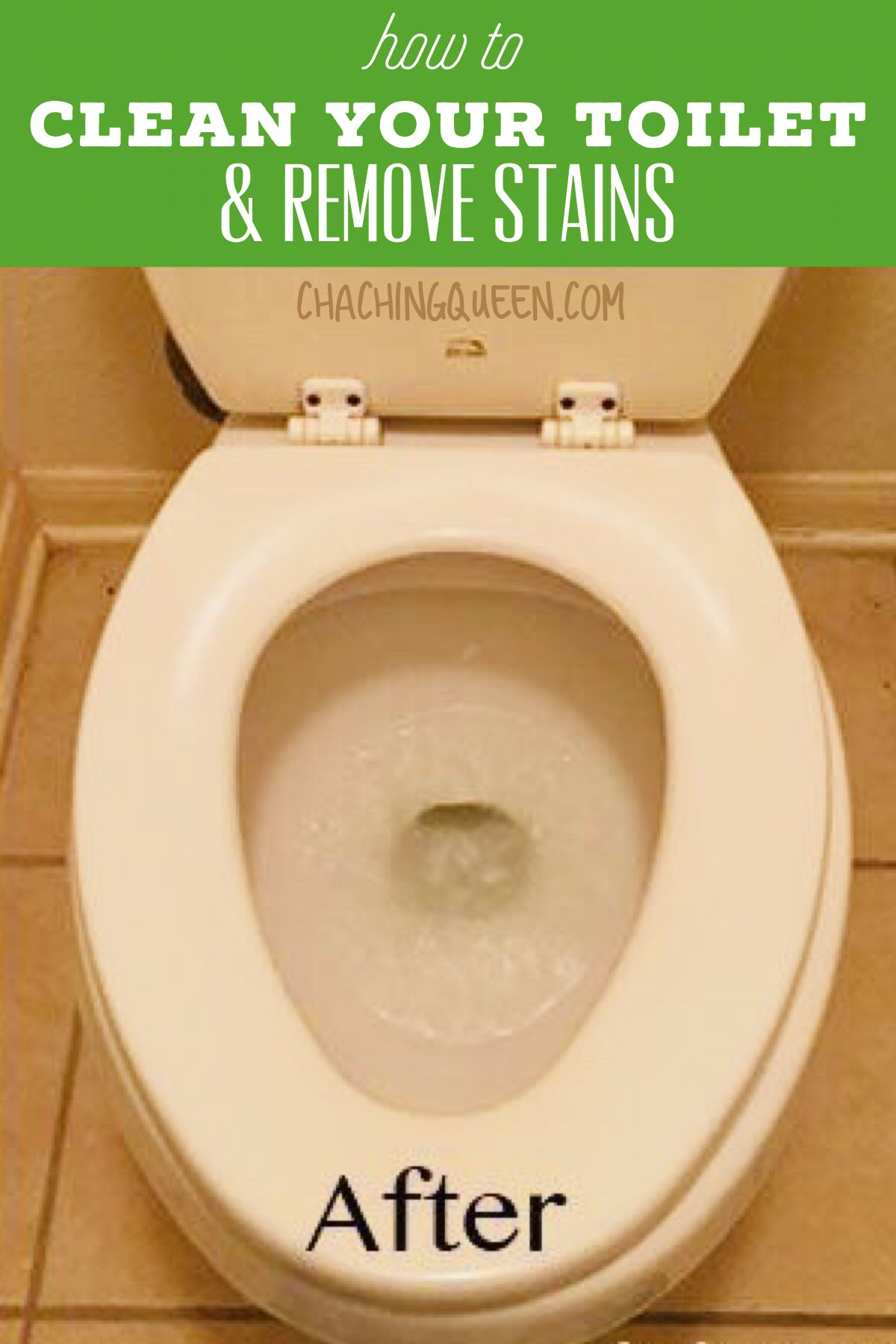 How To Clean A Toilet And How To Remove Hard Water Stains Toilet Cleaning Hard Water Stain Remover House Cleaning Tips