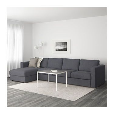 VIMLE 4 seat sofa With chaise longue gunnared medium grey