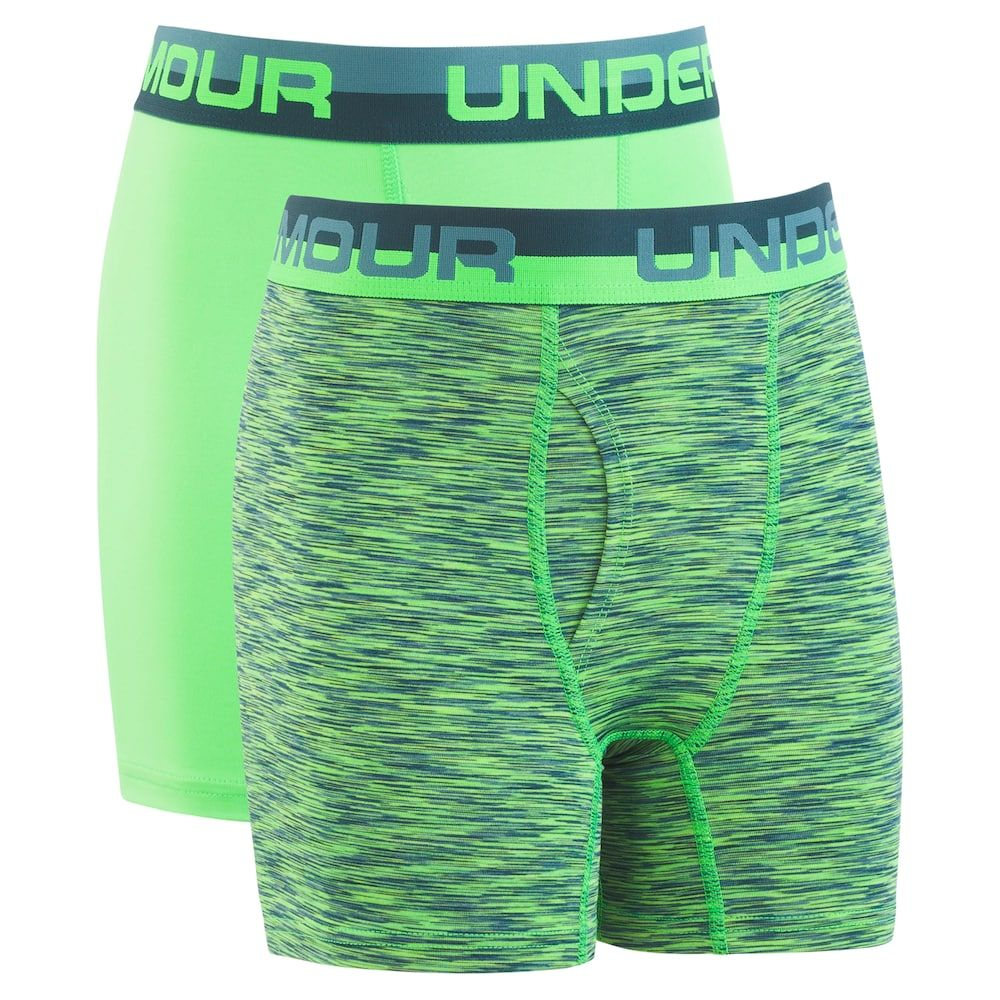 Under Armour Boys 2 Pack Performance Boxer Briefs Shorts