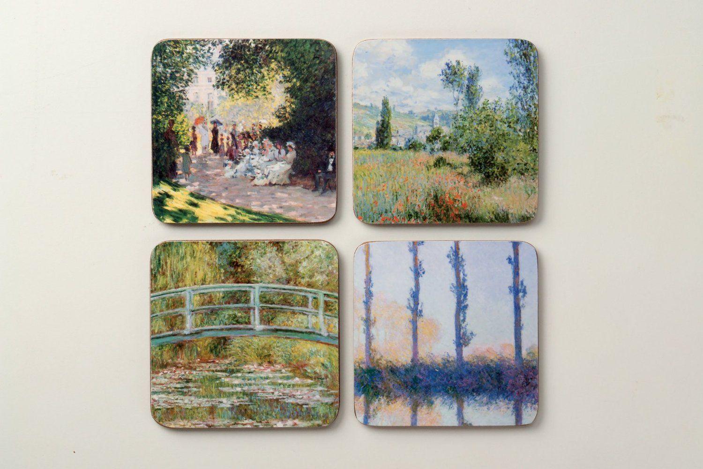 Amazon.com: The Metropolitan Museum of Art Coaster Set, Monet: Artist Design Coaster Art Sets: Home & Kitchen