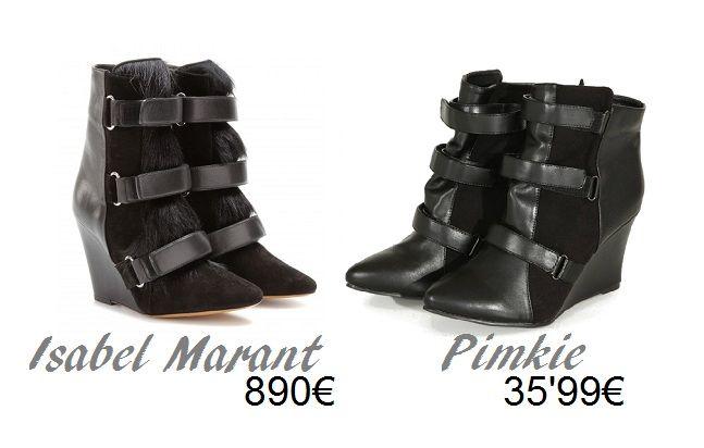 Clones de moda - botas Isabel Marant