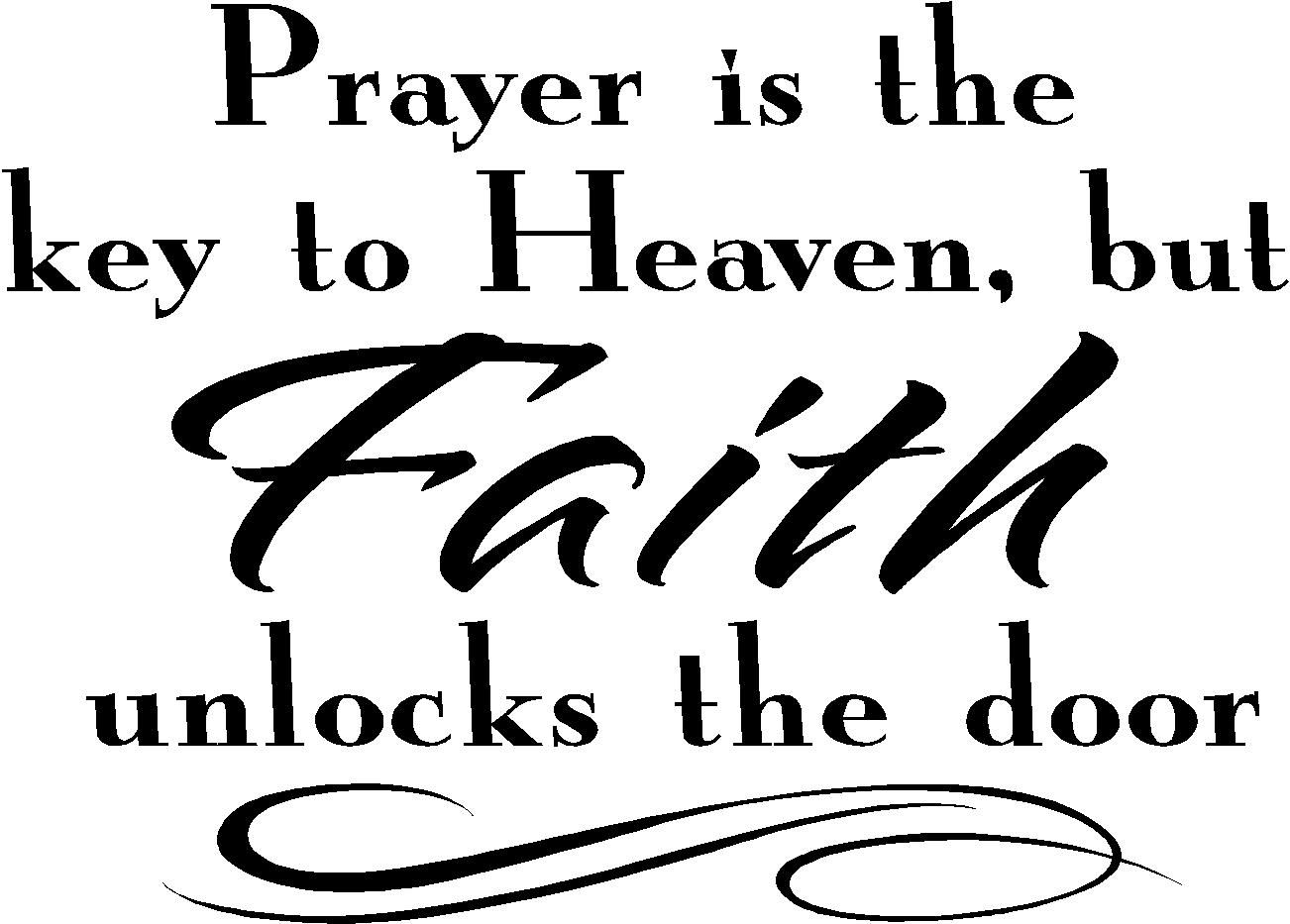 Inspirational Wall Quote Prayer Is The Key