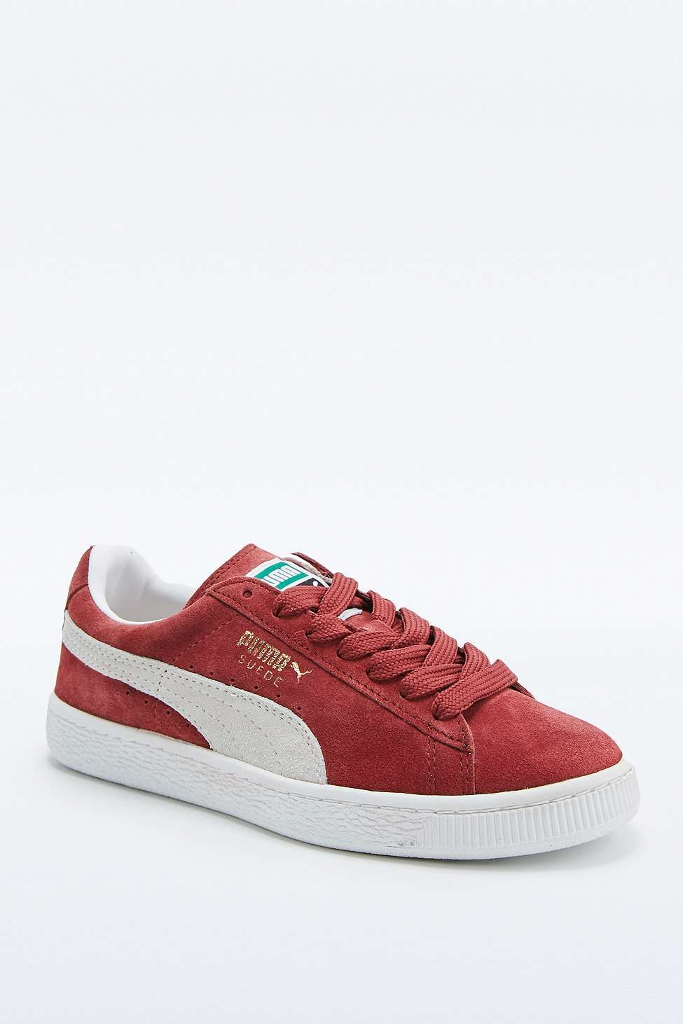 "Puma – Sneaker ""Classic"" aus Wildleder in Weinrot 