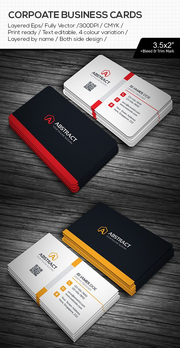 Abstract Illustrator AI Business Cards | Favorite Bussiness Cards ...