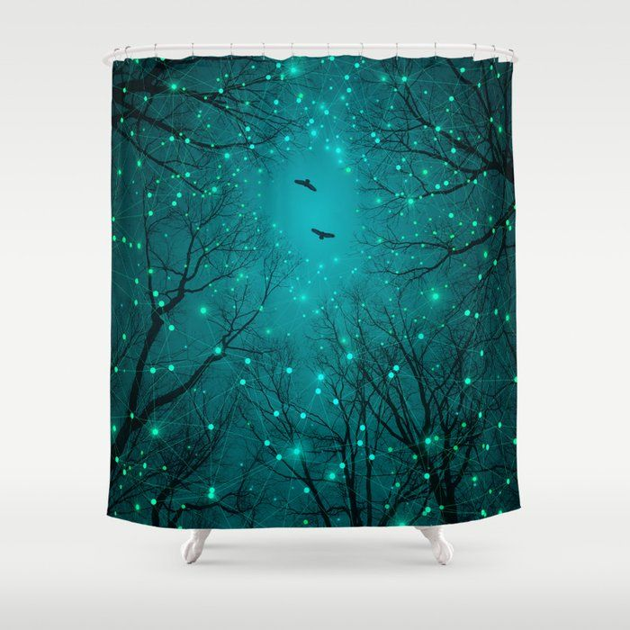 Photo of One By One, The Infinite Stars Blossomed Bathroom Shower Curtain by Soaring Anch …