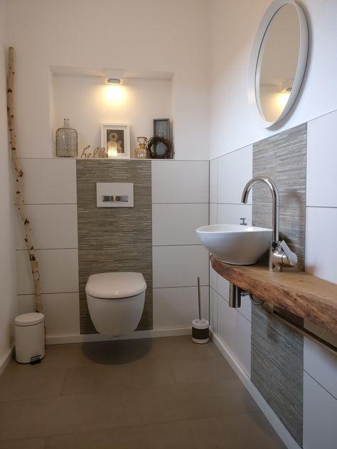 Für Gäste | Badezimmer fliesen ideen bilder, Kleine gäste wc ...