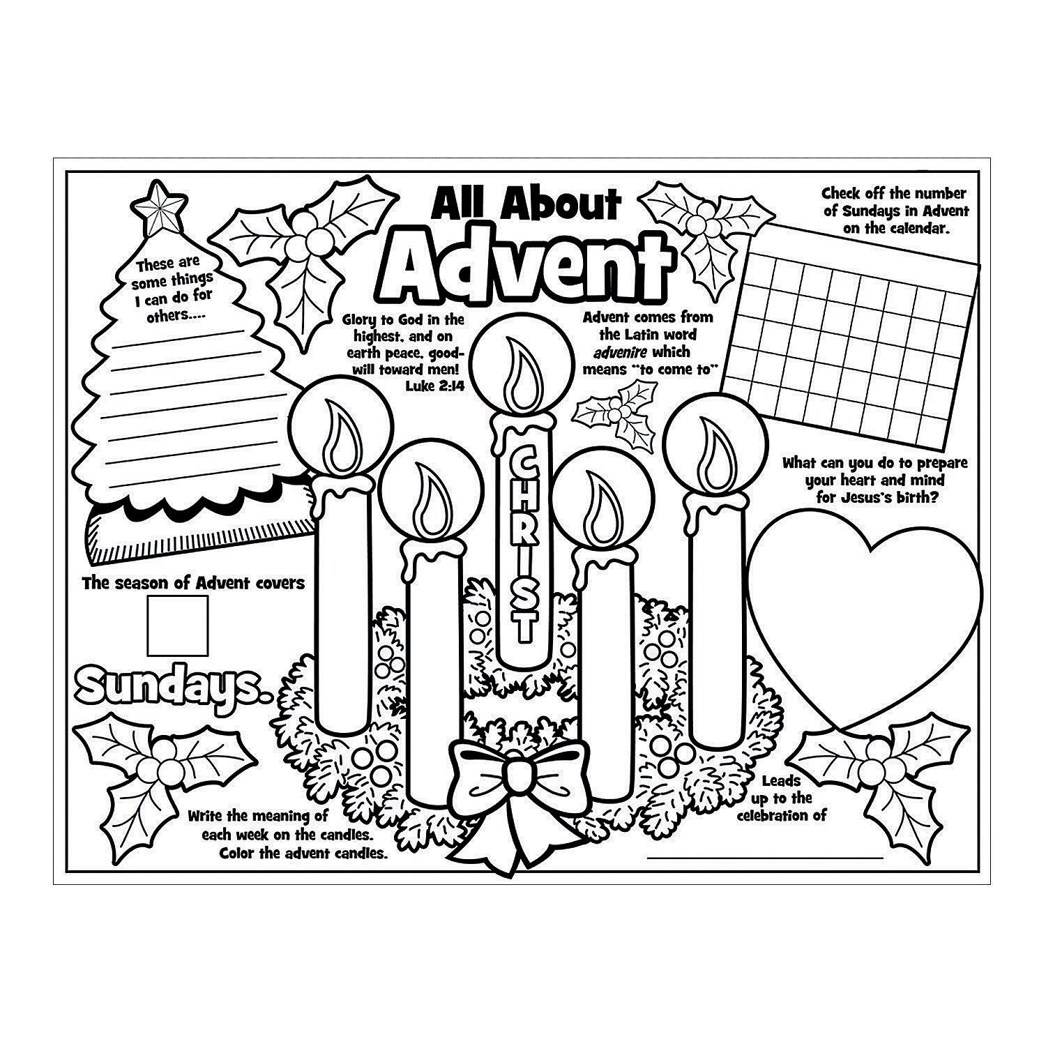 Paper Color Your Own All About Advent Posters