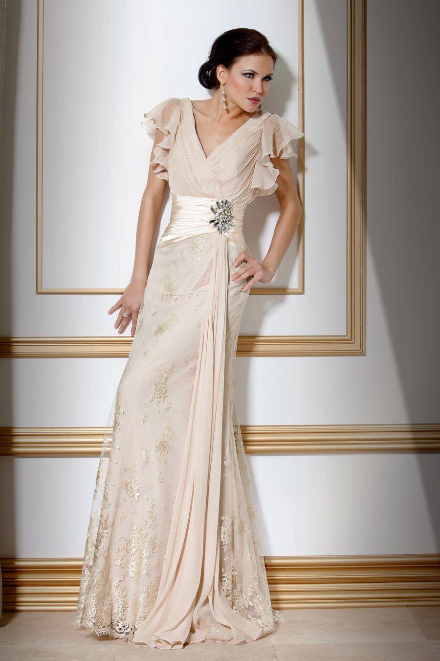 Silk sheath wedding dress  Chiffon Jovani designer gown  Clothes and Shoes  Pinterest