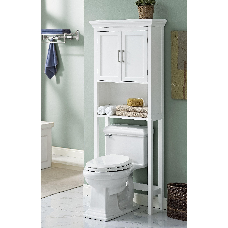 Chrome Over The Toilet Storage | Wood Bathroom Etagere | Toilet ...