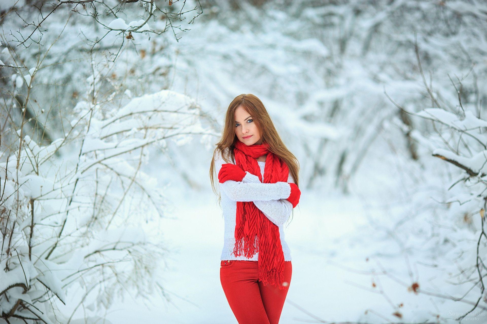 Позы для фотосессии в зимнем лесу