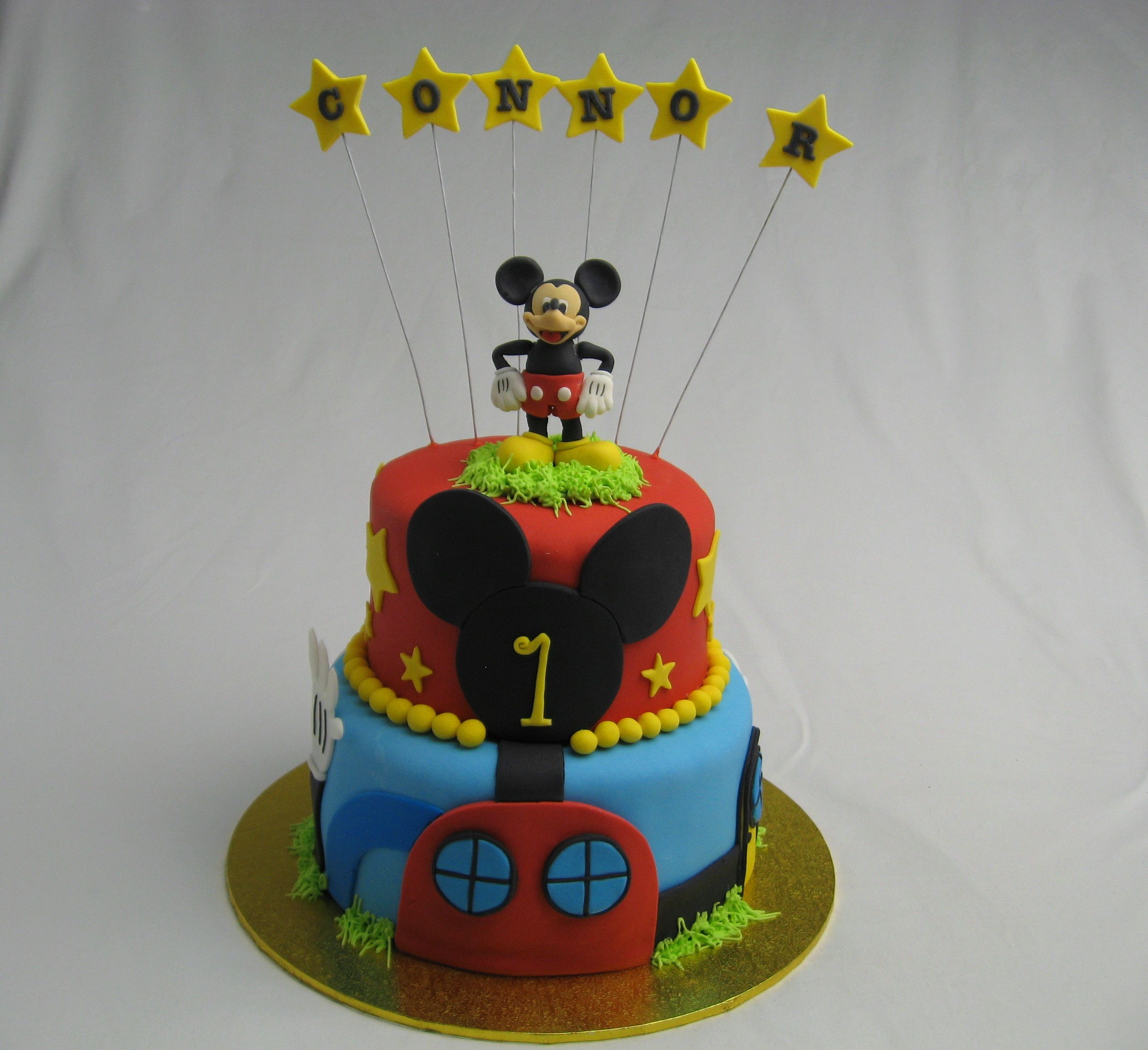 Mickey mouse club house birthday cake by wwwcakesisters