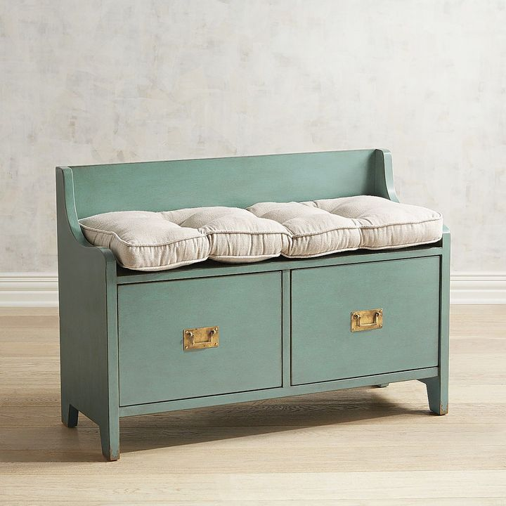 Exceptionnel Bradford Teal Storage Bench $349.95