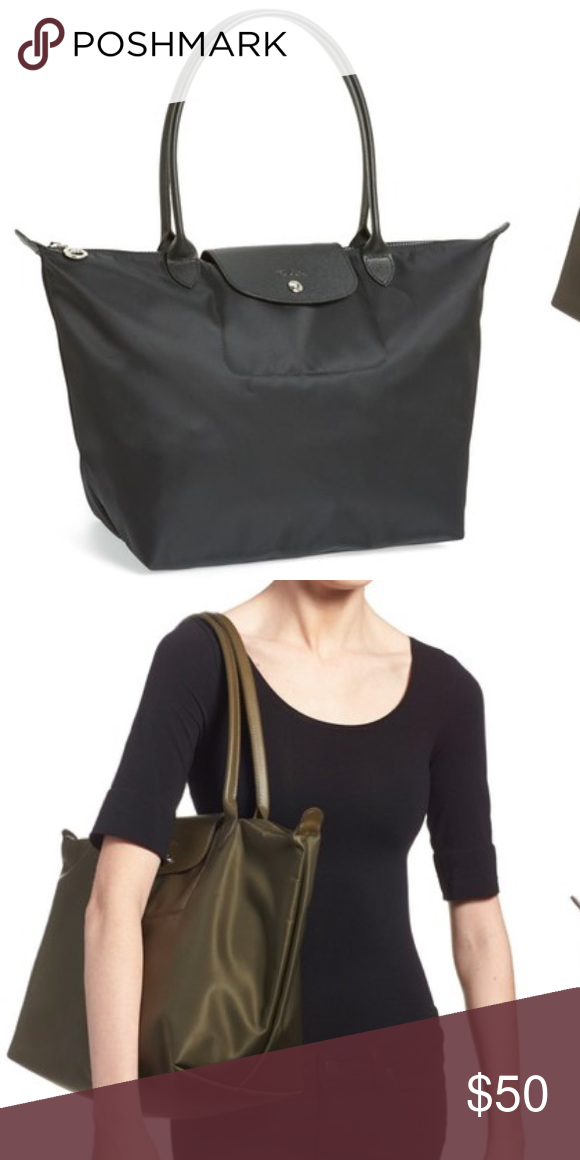 Large Black Le Pliage Neo Tote Large Black Le Pliage Neo Longchamp  Authentic tote. Pictures to come. Some wear, priced accordingly. Longchamp  Bags Totes 642468bc31