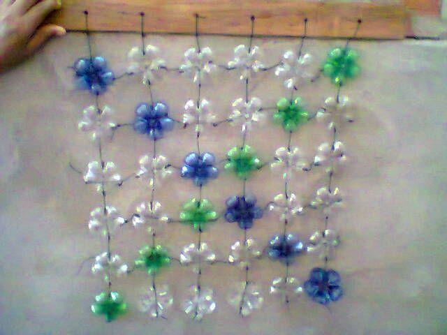 cortina de botellas plásticas! Manualidades Pinterest