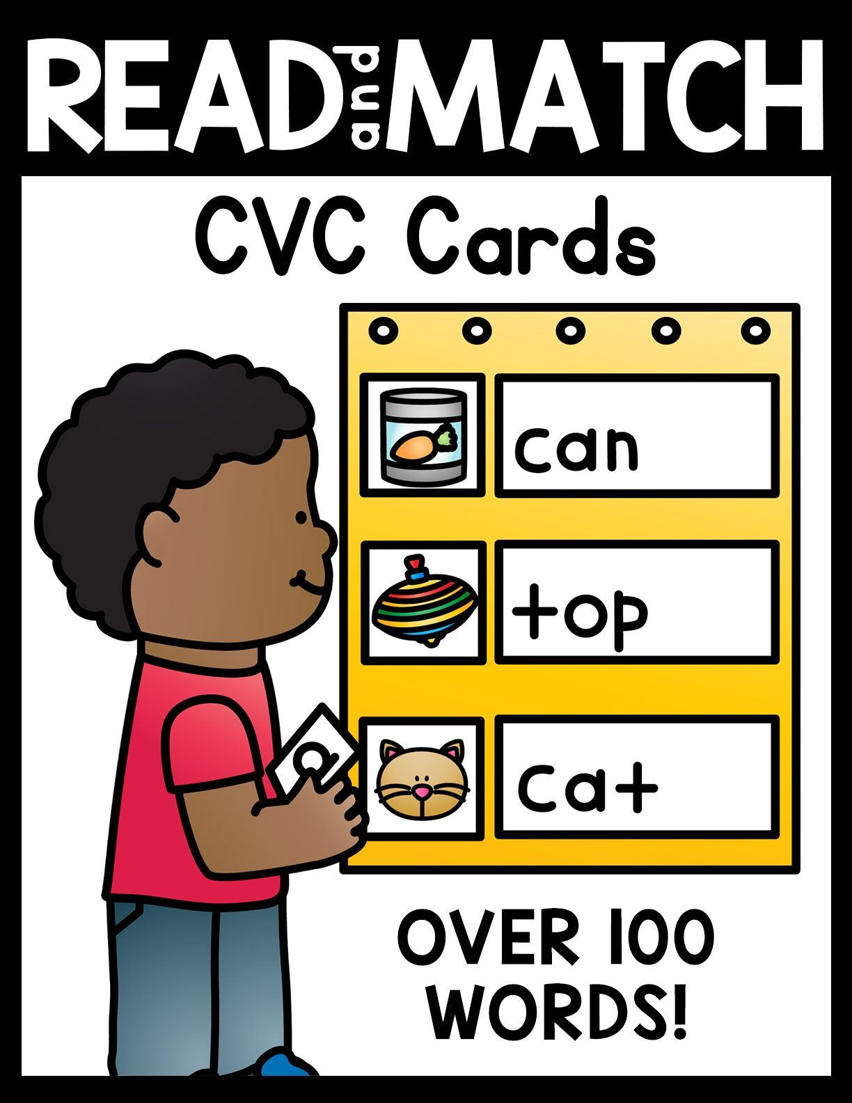 Read And Match Cvc Cards