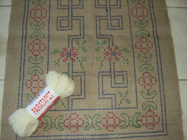 Juta riscada para tapetes arraiolo curso basico de for Clases de tapetes