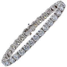 Tiffany & Co. 16.78 Carat Diamond Platinum Tennis Bracelet | 1stdibs.com