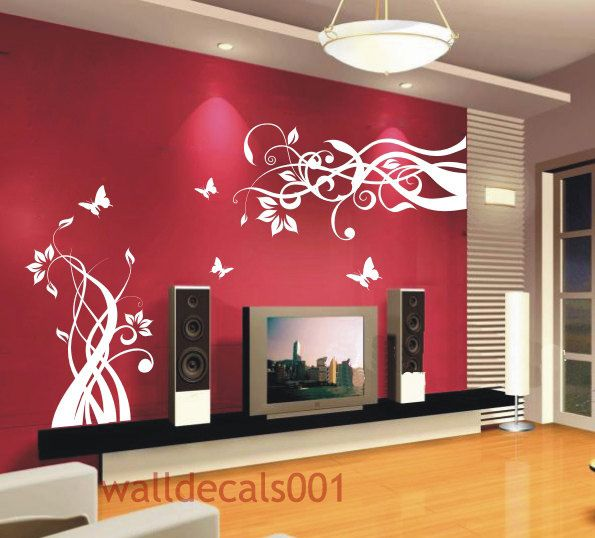 Wall Decals - Swirly Butterfly   Decals for the Home   Pinterest ...