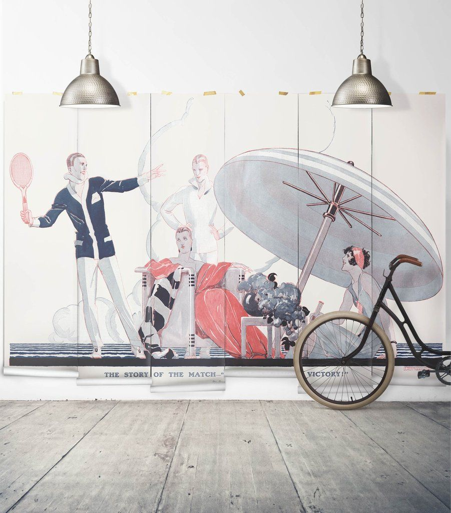 A famous victory wall mural from the erstwhile collection by milton