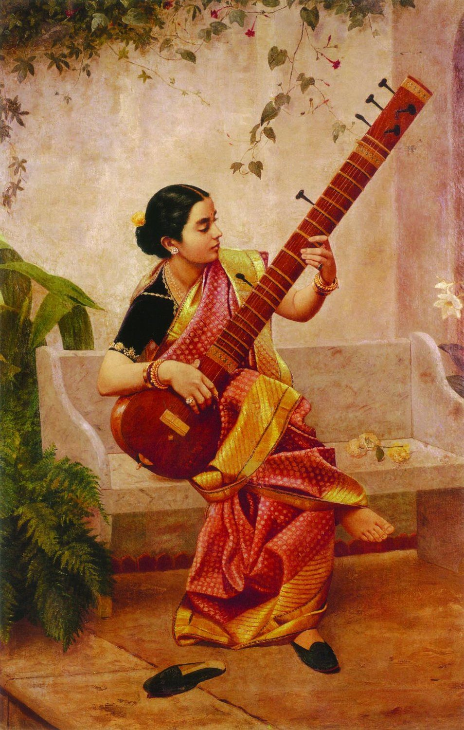 Lady with Veena |