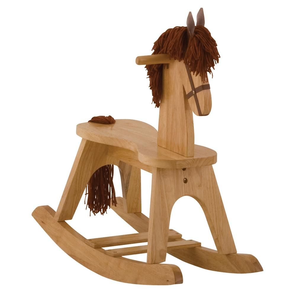 storkcraft baby wooden rocking horse children horses personalized christmas gifts crafts. Black Bedroom Furniture Sets. Home Design Ideas
