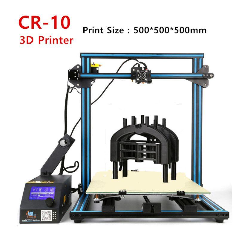 Crcreality 3d Cr 10 Large 3d Printer Big Print Size 500 500 500mm 400 400 400mm 300 300 400mm Desktop 3 D Printer W Diy Desktop Large 3d Printer 3d Printer Kit