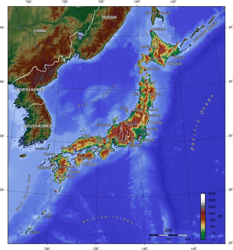 Carte Relief Japon | Japon | Pinterest | Carte relief, Relief et