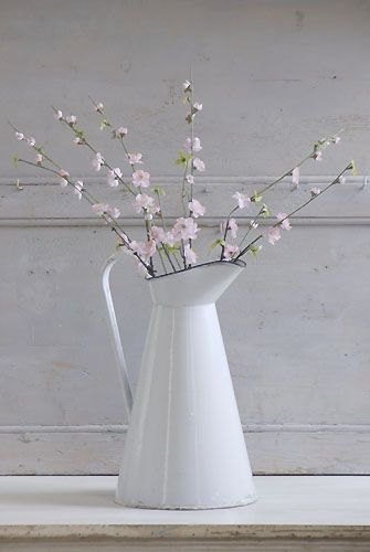 blossoms in French enamel jug❤
