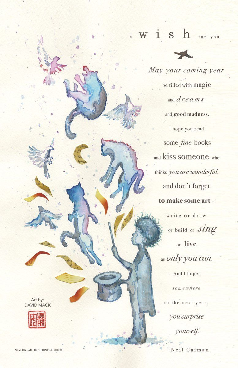 Words by Neil Gaiman Art by David Mack New year wishes