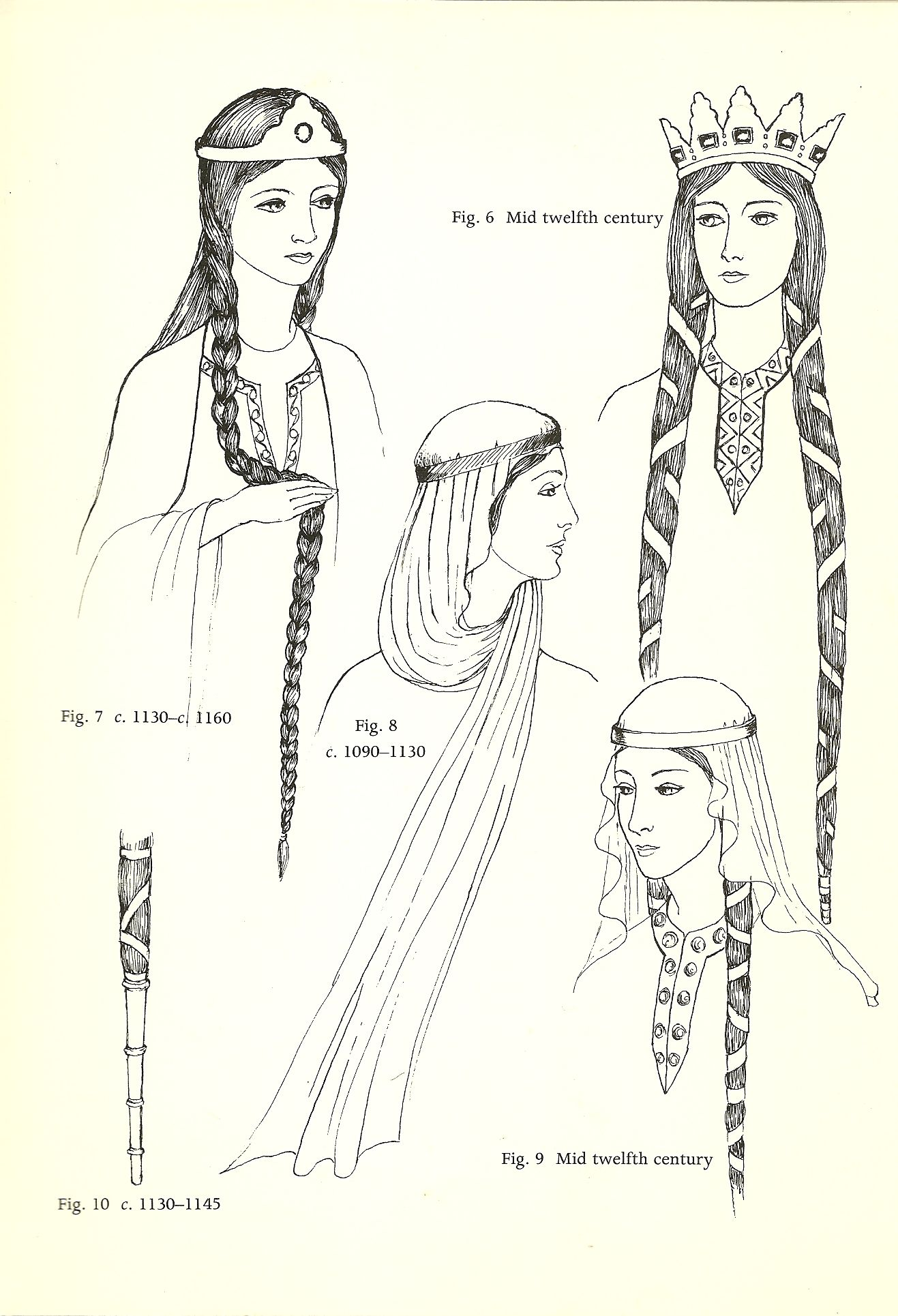 Hairstyles For The Norman Woman In 2020 Medieval Costume Medieval Hairstyles Medieval Fashion