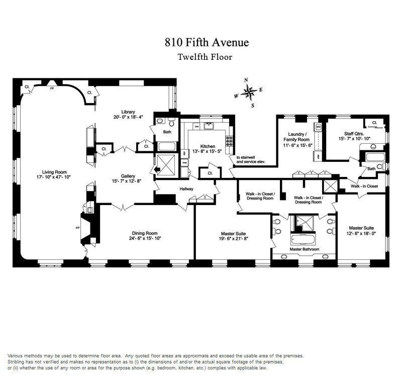 2 Bedroom Apartments Manhattan: Originally Belonging To Former Vice President Nelson