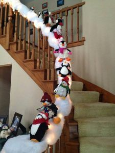 19++ Decorate stair banister christmas trends