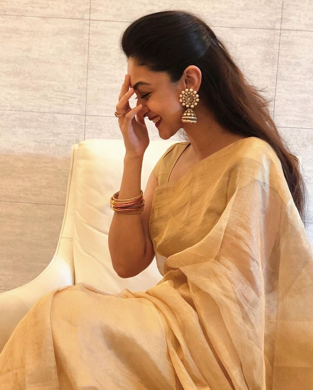 Aishwarya Arjun's Festive Look! – South India Fashion